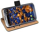 mumbi Tasche Bookstyle Hülle kompatibel mit Samsung Galaxy Note 2 Hülle Handytasche Hülle Wallet, schwarz