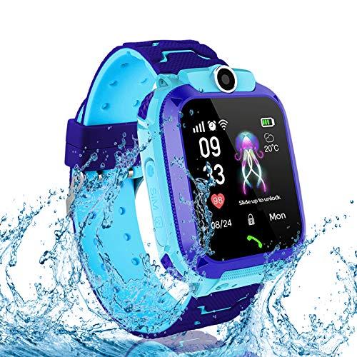 JOJOHOY Kids Smart Watch, Smart Watch for Kids with SOS Two Way Call Camera Alarm Clock IP67 Waterproof Smartwatch for Boys Girls - Blue
