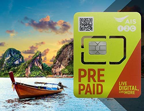 Tarjeta SIM de viaje de Tailandia prepago 15 GB de datos +15 saldo de baht tailandés para 8 días
