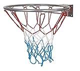 Sport-Line Hangring - Canasta de baloncesto con anillo y cesta con red para niños, 45 cm