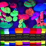 individuall Luminous Glow in The Dark Paint - Set of 8 Self-Luminous Neon Paints – Long-Lasting Phosphorescent Paint – Glowing Neon Paint - 8 x 20 ml / 0.7 fl oz