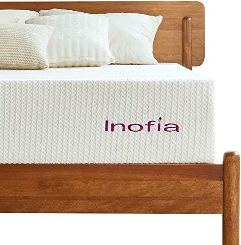 Inofia Matratze 160x200 Memory Foam Matratze Kaltschaummatratze H3 Höhe 20cm Weiß,waschbar Bezug für Allergiker,Lavendel,ÖKO-TEX® 100,100 Nächte Probeschlafen,10 Jahre Garantie(160 x 200 cm)