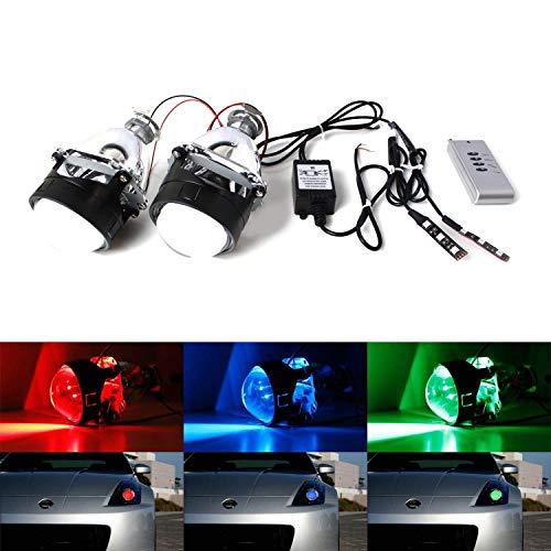 iJDMTOY (2) Mini 2.5-Inch H1 Bi-Xenon Headlamp Retrofit Projector Lens...