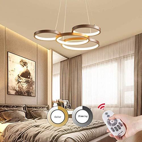 LED Dimmerabili Modern Chandelier Con Telecomando Chandelier Attaccatura Del Salone Sala Da Pranzo Ufficio Camera Lampadario [A-level Energy ++] (Size : 4-light)