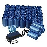 Fosly Hundekotbeutel Blau mit Spender, 40 Rollen, 1400 Beutel Haustier Müllsack