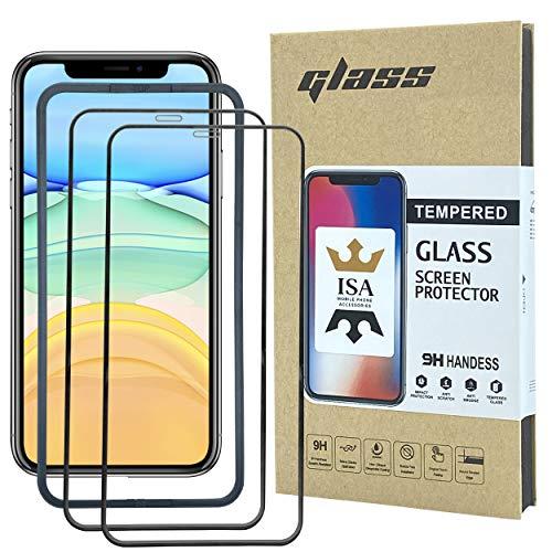 2x 3D Schutzglas/Panzerfolie, Full-Displayschutzglas, 9H gehärtetes Schutzglas/Panzerfolie, kratzresistent, Volle Touch-Funktion, inkl. Einbauhilfe-Rahmen, für (iPhone 11 Pro)