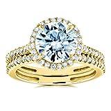 Kobelli Moissanite Wedding Ring Sets