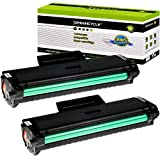 GREENCYCLE 2 Pack Compatible for Samsung MLT-D104L Black Toner Cartridges for ML-1665 SCX-3201 3206 Series