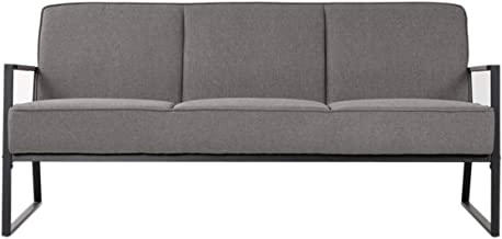 Homes r us RENCA Collection 3-Seater Sofa, Grey - 168 x 68 x 75 cms