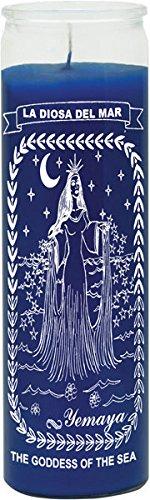 INDIO Yemaya/The Goddess of The Sea Blue Candle - Silkscreen 1 Color 7 Day