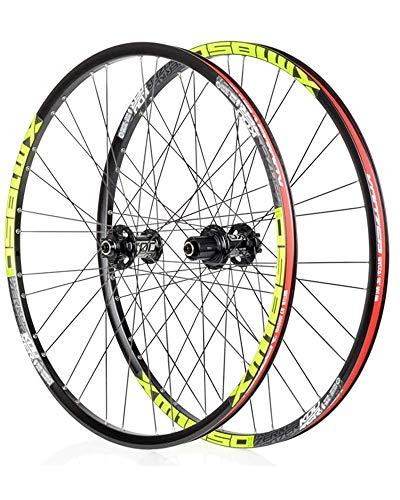 DSHUJC Juego de Ruedas de Bicicleta de montaña de 26/27,5 Pulgadas, llanta de aleación de Aluminio de Doble Pared, Frenos de Disco de liberación rápida, válvula Americ