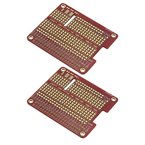 Cuasting 2Pcs DIY Prototype Hat Shield Extension Board for Raspberry Gpio Board with Screws for Raspberry Pi 3/2 Model B+