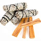Copalosanto Kit con Salvia Blanca Apiana y Palosanto, Incienso Natural para Quemar, Set 4 Sticks de...