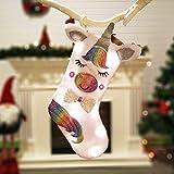 Calze Natalizie, Ultimo Unicorno Illuminato, Stile Creativo Unico, Calze Regalo Dell'albero di Natale,Porta Le Migliori Sorprese per i Bambini alla Vigilia di Natale(Luminescente18*13cm)