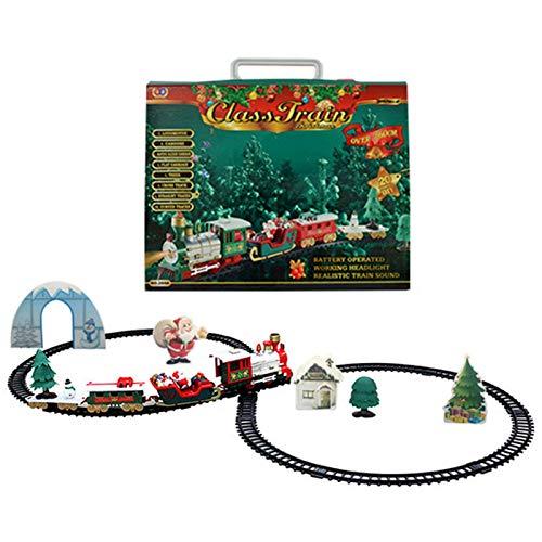 OrangeC Tren De Navidad Set Tren De Árbol De Navidad Tren Eléctrico...