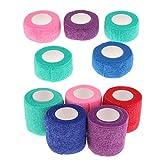 Backbayia 10 Stück Haustier Bandage Fixierbinde Verband für Hunde, Katzen, Kleintiere (# 2)