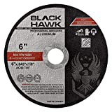 BHA Load Resistant Cut Off Wheels for Aluminum & Other Soft Metals, Angle Grinder Cutting Discs 6' x .045 x 7/8' - 25 Pack