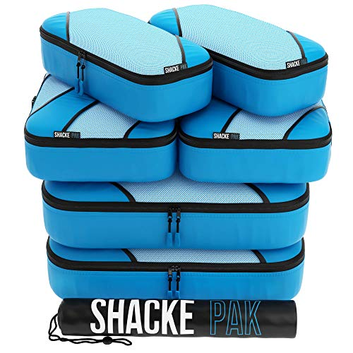 Shacke Explorer 7pcs Packing Cube - Travel Luggage packing Organizers (Aqua Teal, Set)