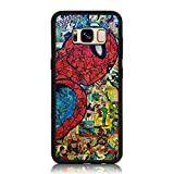 Galaxy S8 Case, Drop Protection Shock Absorbing Soft Silicone + Hard Back Shell Protective Case for Samsung Galaxy S8 - Spider Man Comic Collage Print