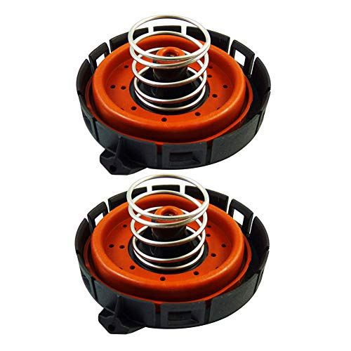 Dade Set of 2 Crankcase Vent Valve PCV Pressure Regulating Valve Fit for BMW 11127547058 14506018001