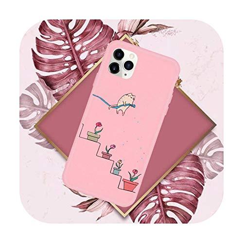 Funda creativa a prueba de golpes lindo teléfono rosa caramelo color para iPhone 11 12 Mini pro XS MAX 8 7 6 6S Plus X SE 2020 XR-a8-iPhoneXR
