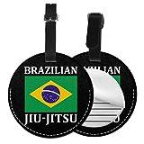 Etiquetas redondas de cuero para equipaje de Jiu Jitsu brasileña, Negro (Negro) - Lp7bgrc-47236081