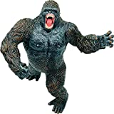 Higherbros Gorilla King Kong Toys Action Figure Standing Rampage Gorilla Fight Mode Gorilla Ape Solid Wild Animal Figurines for Kids Birthday and Home Decoration