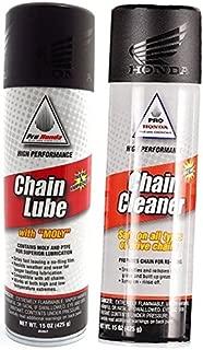 Honda Pro Chain Lube (15oz) and Chain Cleaner (15oz) Combo Kit
