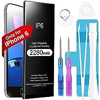 AVasea Batería de 2280 mAh para iPhone 6G,Batería Recargable de Polímero de Litio de Alta Capacidad con El Kit Completo de Herramientas para La Reparación Adhesivo e Instrucciones-Garantía de 24 Meses