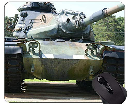 Non-Slip Rubber Gaming Mouse Pad, Gun Control in America Tank Office Mouse Pad