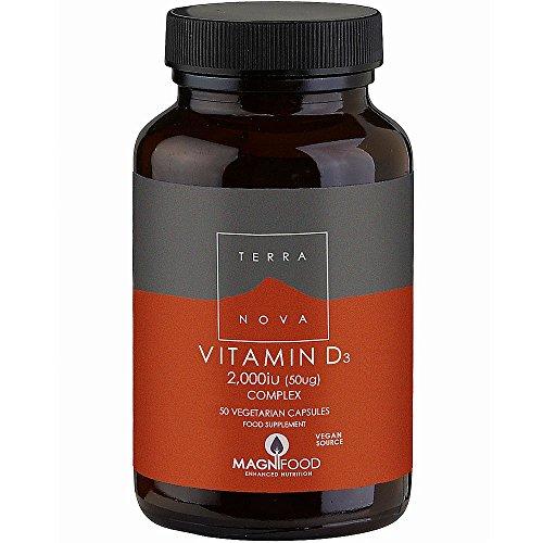 Terranova Vitamin D3 Complex, 2000IU (50µg), 50 Vegetarian Capsules