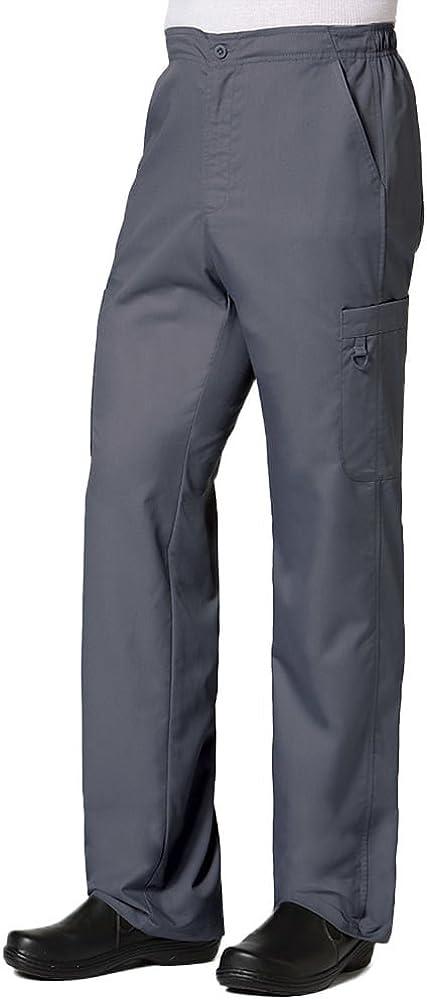 Maevn 8308 Men's Half Elastic 8-Pocket Cargo Pant Charcoal XL Tall