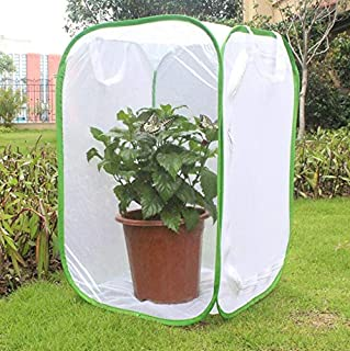 CUSFULL Insect and Butterfly Habitat Terrarium - 35.5 Inches Tall Collapsible for Storage Cage with Large Zipper Opening - Clear Window Panel