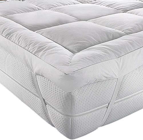 II GMtextiles II HOTEL QUALITY(Microlite) MICRO FIBER MATTRESS TOPPER THICK 5 CM, BOX STITCHED,IN, ANTI ALLERGENIC Cot/Cot Bed(70 x 140cm)