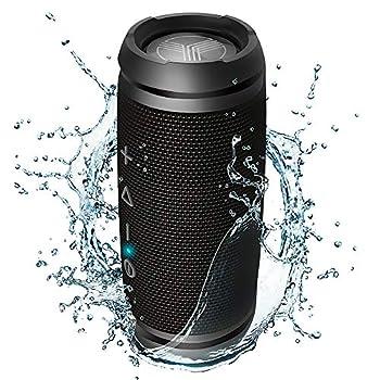 TREBLAB HD7 - Mini Portable Bluetooth Speaker Wireless - 12W Stereo 360°HD Sound w/Bass TWS Dual Pairing w/Mic - Waterproof Small Wireless Speaker w/Bike Mount Hole for Outdoor Travel Beach