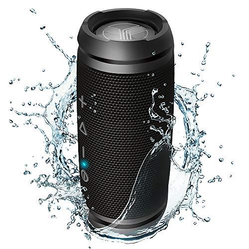 Treblab HD7 – Alto-falante sem fio portátil ultra premium – som alto de 360° HD com melhor graves, duplo emparelhamento TWS, estéreo de 12W, microfone Bluetooth 5.0, pequeno e mini para viagens, bicicleta, praia, festa Bosinas