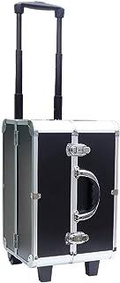 WSJTT. حقيبة سفر متنقلة مصنوعة من الألومنيوم لتخزين مستحضرات التجميل ومنظم مجوهرات قابل للقفل لتخزين أدوات المكياج