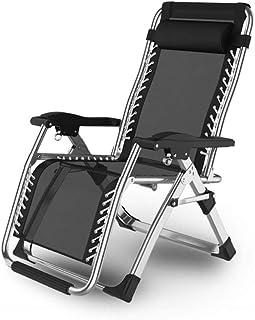 リクライニングチェア 枕一体型 折り畳み リラックス リクライニング チェア 折りたたみ ガーデン用チェア ベンチ 椅子 アウトドアチェア RICLINA (シルバー)