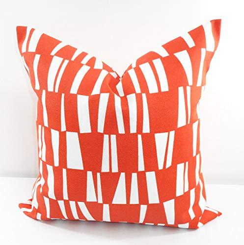 Tr73ans oranger Kissenbezug, Geschenkidee für den Innenbereich, schmutzabweisend, Orange und Weiß