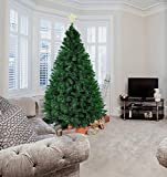 Livebest Black 7ft Artificial PVC Christmas Tree with 1000 Tips Gorgeous Faux-Pine Halloween Xmas Tree