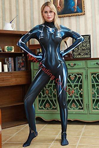 EQWR Capitn Marvel Aquaman Mera Ladybug Girls spiderman my hero academia cosplay disfraz disfraces de halloween para mujeres Monos L como se muestra
