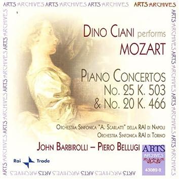 Mozart: Piano Concertos No. 25 K. 503 & No. 20 K. 466