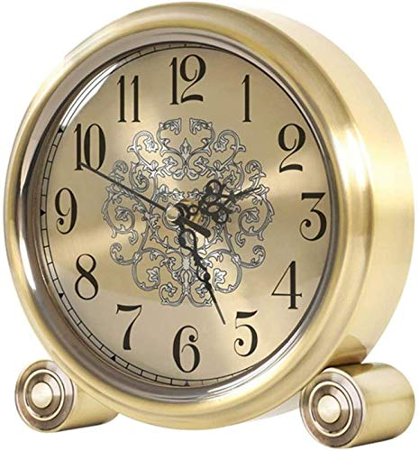 J-Clock Relojes de Escritorio clásicos, Movimiento silencioso, Relojes de repisa de Metal, decoración del hogar para Sala de Estar, Cocina, Dormitorio, Escritorio de Oficina