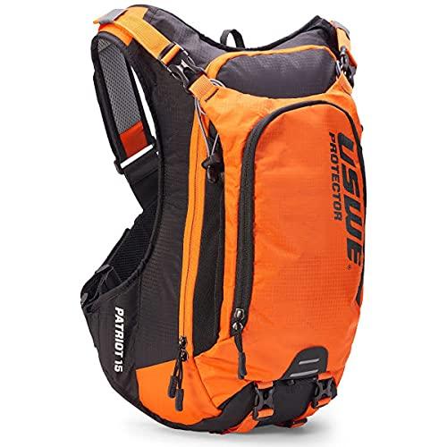 USWE Protektor-Rucksack Patriot 15 schwarz/orange ohne Trinkblase, schwarz/orange