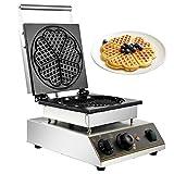 BuoQua Gaufrier Commercial Machines à Gaufres et Croques Professionnel Waffle Machine Moulle à Gaufre en Forme de Cœur