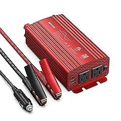 professional BESTEK500W Pure Sine Wave Inverter DC12V to AC110V Car Change Adapter Power Supply…