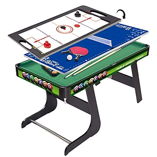 Children's Multifunctional Pool Table Wooden Multifunctional Combination Table Tennis Ice Hockey Three-in-one Parent-child Interactive Game Table FDWFN