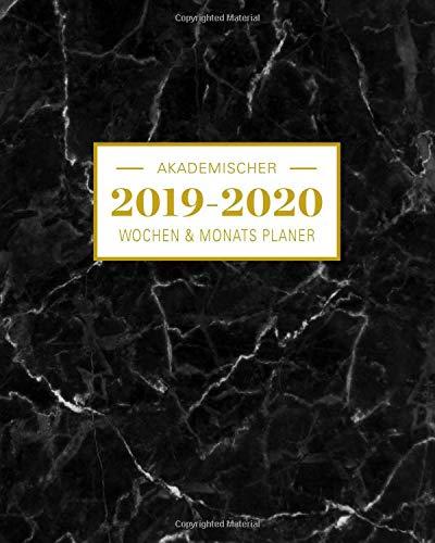 2019-2020 Akademischer Wochen- und Monatsplaner Marble Schwarz: Terminkalender Organizer, Studienplaner und Notizbuch mit inspirierenden Zitaten ... Juli 2020 (Planer Organizer, Band 3)
