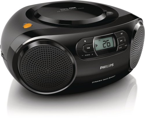 Philips AZ320 - CD Soundmachine (reproduce CD, MP3-C y USB, FM), color negro