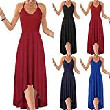 WoCoo Summer Maxi Dresses for Women V Neck Sleeveless Dress Independence Day Print Long Dress(AD-Black,X-Large)